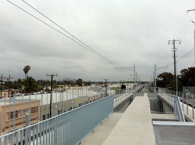 View from the Expo/La Brea station