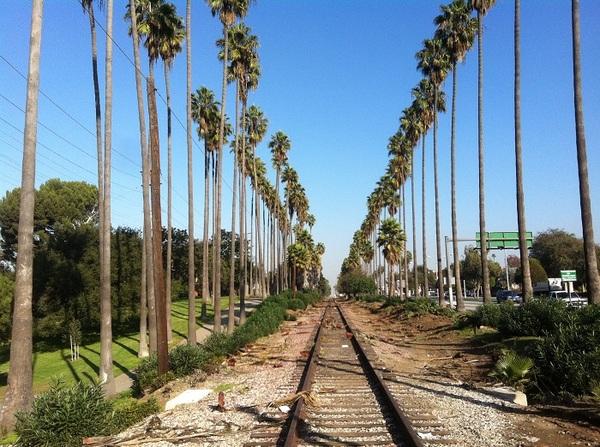 Heading east up the train tracks