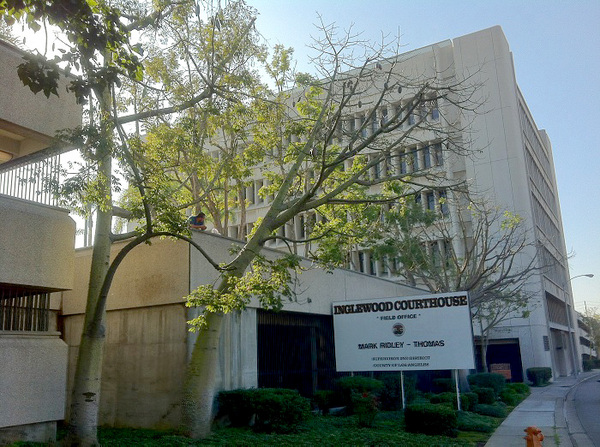 Brutalist Southwest District Inglewood Courthouse