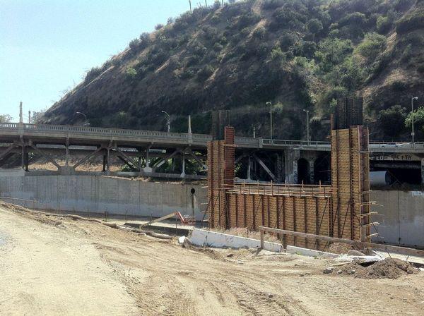Replacement bridge under construction