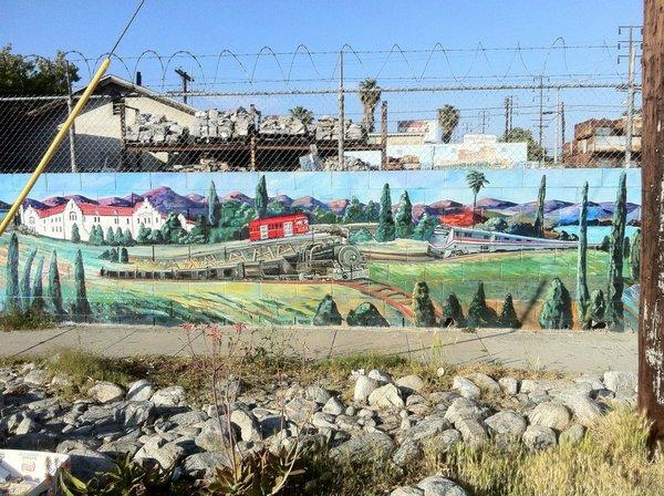 Toonerville Transit mural