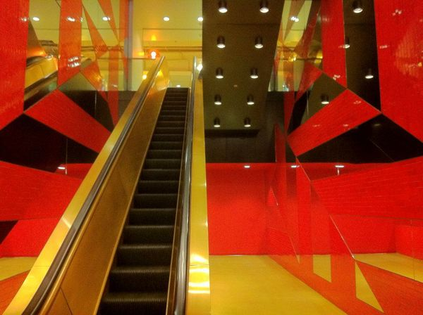 505 Flower's escalator gives me a creepy Kubrick vibe