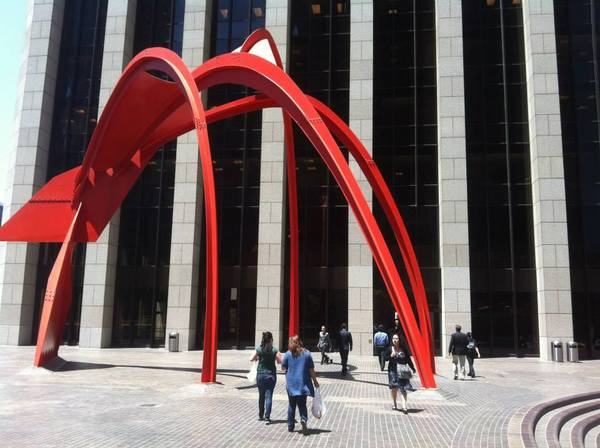 Alexander Calder's painted steel sculpture, Four Arches (1975)