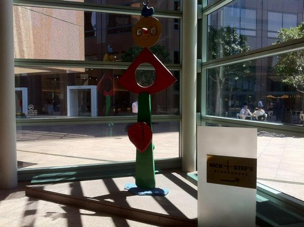 Joan Miró's ''la caresse d'un oiseau'' (1967) inside Wells Fargo Center