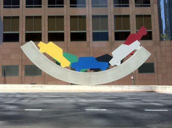 Lloyd Hamrol's homage to car culture, Uptown Rocker (1986)