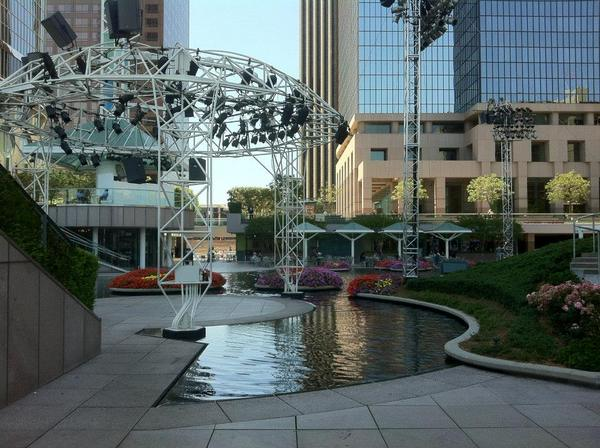 The Water Court at California Plaza - sight of Grand Performances