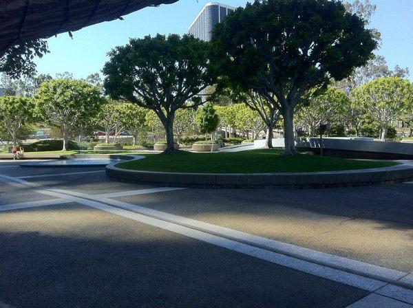 Union Bank Plaza, designed by landscape architect Garrett Eckbo