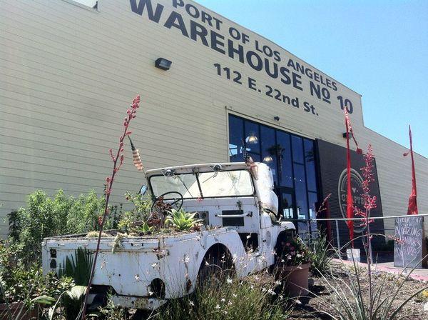 A Jeep planter