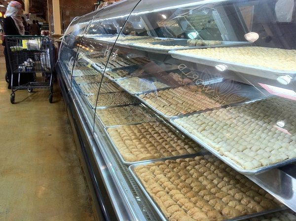 Desserts at Kunafa King, inside Fresh Choice Marketplace