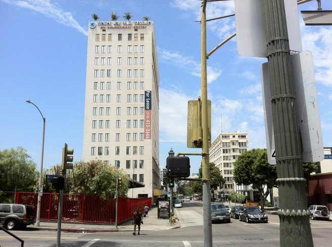 Left, the Park Metro Wilshire and right, MacArthur Park Medical Plaza