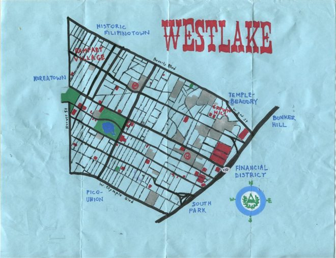 Pendersleigh & Sons Cartography's oil paint map of Westlake