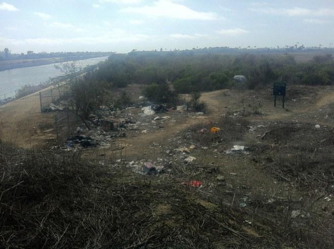 Ballona Creek and homeless encampment
