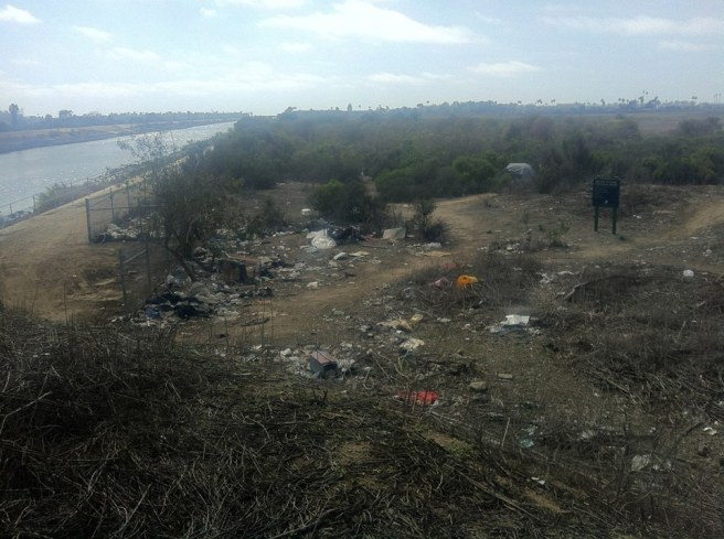 Ballona Creek and homeless encampment