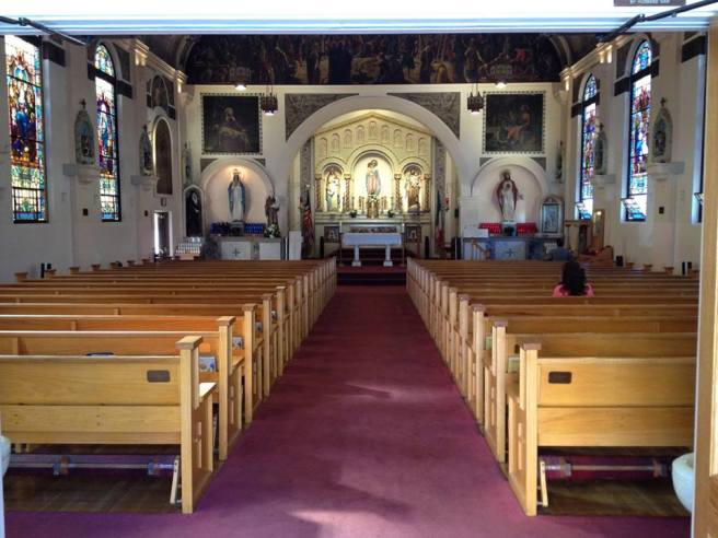 Inside Our Lady of the Rosary