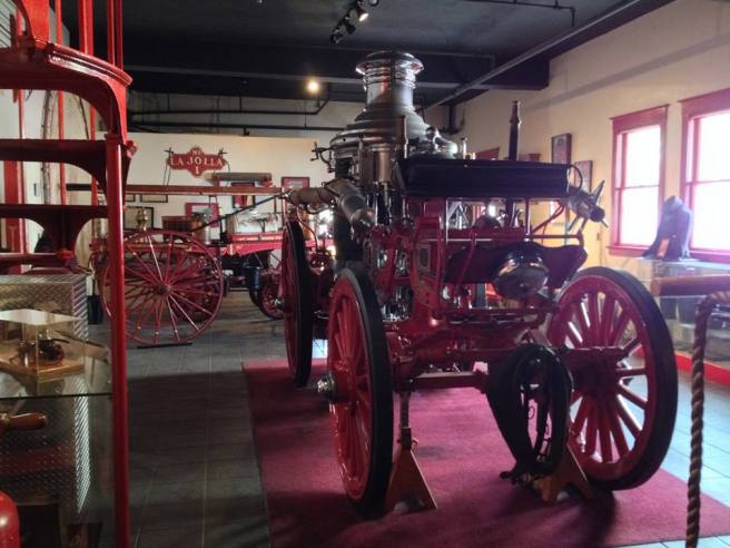 More firetrucks in the San Diego Firehouse Museum