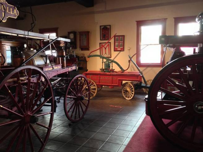 Old equipment in the San Diego Firehouse Museum
