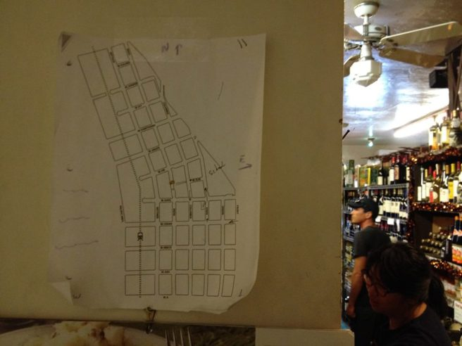 Someone's map of Little Italy