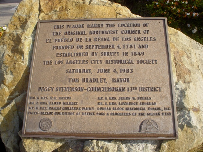 Historic marker of North west Los Angeles (Image credit: LA Eastside)