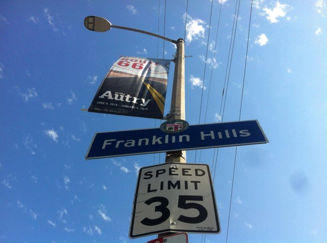 Franklin Hills DOT sign