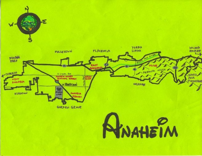 Pendersleigh & Sons Cartography's Map of Anaheim