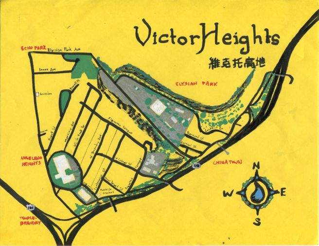 Pendersleigh & Sons Cartography's Map of Victor Heights