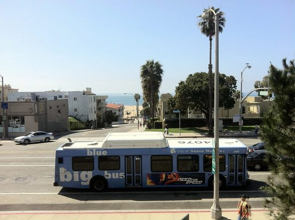 Big Blue Bus at Santa Monica Beach