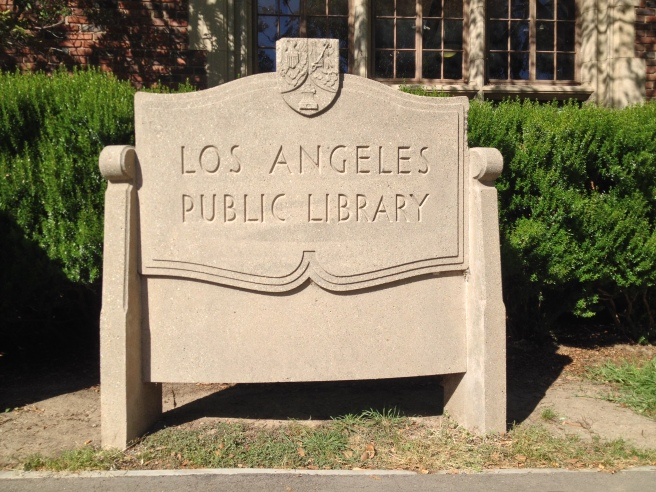 Los Angeles Library sign