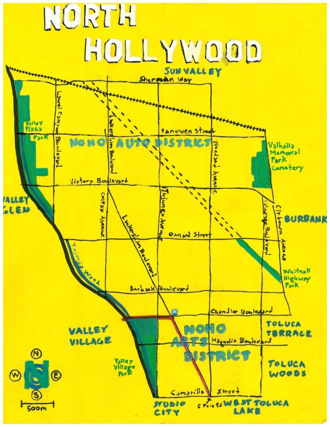 Pendersleigh & Sons Cartography's map of North Hollywood