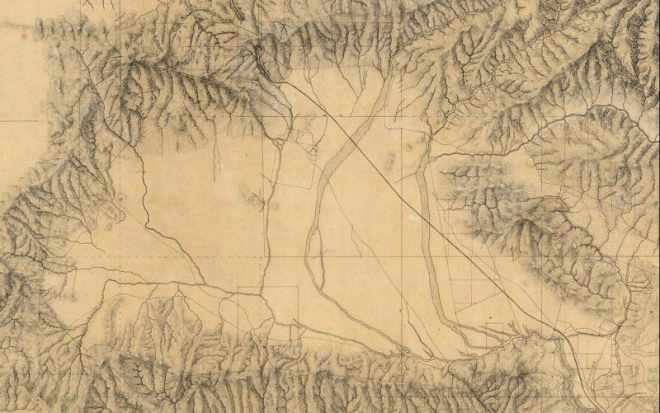 Map of the San Fernando Valley in 1880