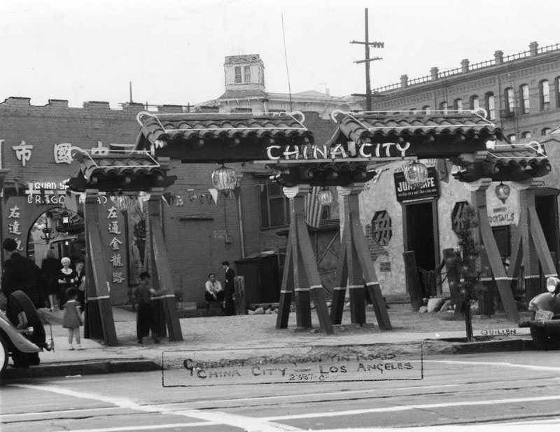 The second gateway to China City, from North Main Street, in 1938. (Harry Quillen)