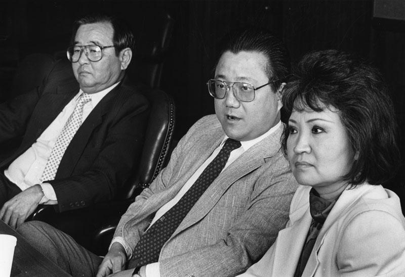 Asian politics : Mas Fukai, Arthur Song, and Lily Chen (Paul Chinn)