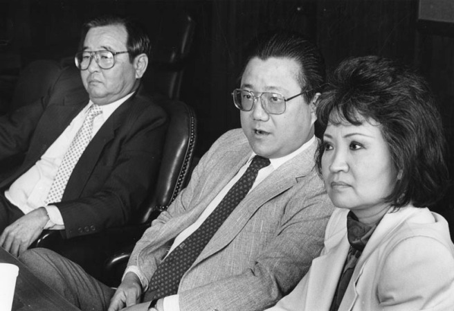 Asian politics : Mas Fukai, Arthur Song, and Lily Chen (Paul Chinn)
