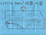 Ink, oil, and white-out map of Little Seoul, c. 2012 -- California Fool's Gold — Exploring Little Seoul