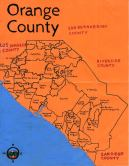 Oil paint map of Orange County for Ian Fitch, 2014