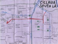 Oil paint map of Ciclavia South LA, 2014 -- The Nobody Drives in LA Guide to CicLAvia South LA