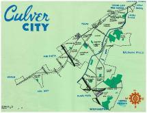 Oil paint map of Culver City, 2013 -- California Fool's Gold — Exploring Culver City, The Heart of Screenland