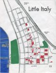 Oil paint map of San Diego's Little Italy for Noelani, 2014 -- California Fool's Gold — Exploring San Diego's Little Italy