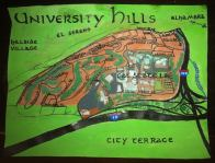 Watercolor and oil bird's-eye map of University Hills, 2014 -- California Fool's Gold — Exploring University Hills