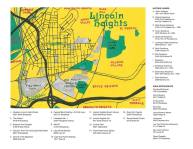 Oil paint map of for CAFAM Members' Walking Tour: Lincoln Heights, 2014
