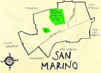 Ink map of San Marino, 2008 -- California Fool's Gold — Exploring San Marino (aka Chan Marino)