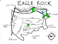 Ink map of Eagle Rock, 2010 -- California Fool's Gold — Exploring Eagle Rock
