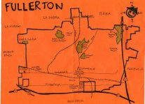 Ink map of Fullerton, 2010 -- California Fool's Gold — Exploring Fullerton, The Education Community