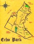 Ink map of Echo Park for Magdelawit Tesfaye (2011)