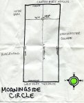 Ink map of Morningside Circle, 2008 -- California Fool's Gold – Exploring Morningside Circle
