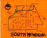 Ink map of South Pasadena, 2011 -- California Fool's Gold — Exploring South Pasadena, Where the Past is the Present