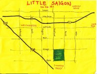 Ink map of Little Saigon (original official area), 2011 -- California Fool's Gold — Visiting Little Saigon