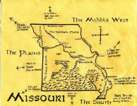 Ink map of Missouri, c. 2009