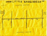 Ink map of Little Bangaldesh, 2010 -- California Fool's Gold — Exploring Little Bangladesh (লিটল বাংলাদেশ)