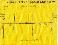 Ink map of Little Bangaldesh, 2010 -- California Fool's Gold — Exploring Little Bangladesh (লিটল বাংলাদেশ)