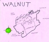 Ink map of Walnut, 2009 -- California Fool's Gold — Exploring the City of Walnut